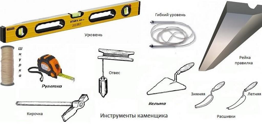 Перечень инструментов для кладки шлакоблока