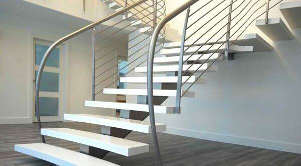 красивые бетонные лестницы в интерьере