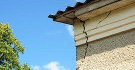 как устранить трещины на фасаде